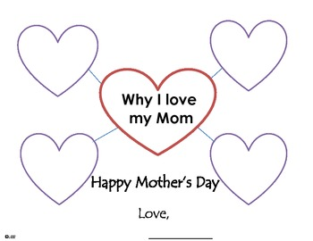 Why I love my mom bubble map for mother's day