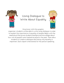 Why Is Equality Important - Read Aloud and Dialogue Writing Activity