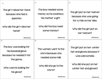 "Why??  Language Activity Pack for Answering ""Why"" Questions."