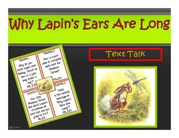 Why Lapin's Ears Are Long Printables Pack