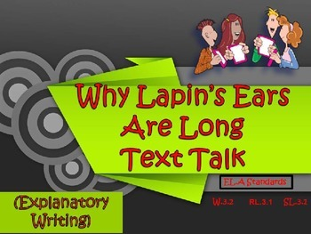 Why Lapin's Ears Are Long Text Talk & Printables Pack