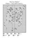 Why Learn Algebra? Mystery Mosaic
