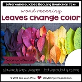 Why Leaves Change Color Reading Comprehension Passage & Qu