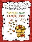 Why Leaves Change Color: Text-Dependent Questions & Close Reading Worksheet