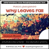 Why Leaves Fall Reading Comprehension Passage & Questions Close Reading