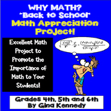 Back To School, Math Appreciation Enrichment Project