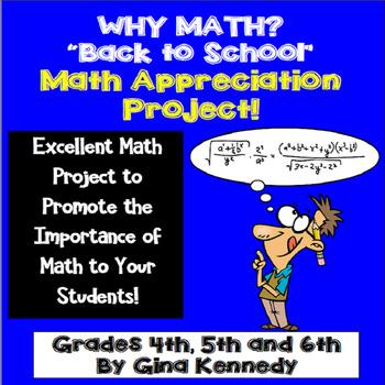 Back To School, Math Appreciation Enrichment Project