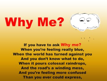 """Why Me"" Poetry Poster"