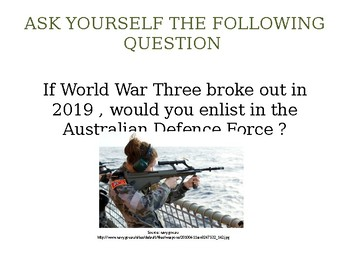 Why Men Went To The Pacific War (Discussion and Mindmap Activity)