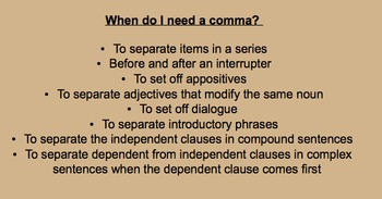 Why Might a Sentence Need a Comma?