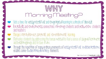 Why Morning Meeting?