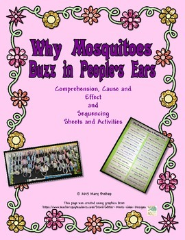 Why Mosquitoes Buzz ... Comprehension, Cause and Effect, Sequencing, Retelling