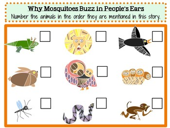 Why Mosquitoes Buzz in People's Ears by Verna Aardema:  A Literature Study!