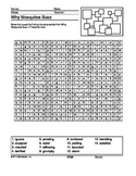 Why Mosquitoes Buzz in People's Ears Word Search Printable