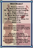 Arts - Why Music? A lovely display poster for your Music Classroom to Inspire!