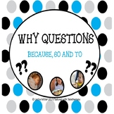 Why Questions?  Because, So and To