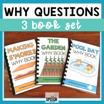 Why Questions Three Book Set - Print and No Print Options