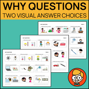 Why Questions with Two Visual Answer Choices