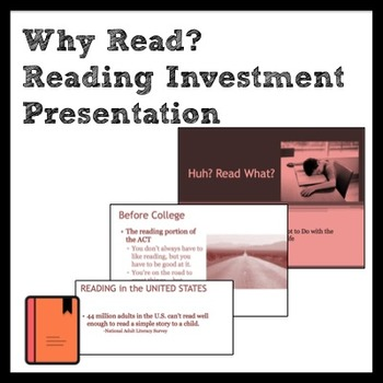 Why Read: Back to School Reading Investment PPT & Discussion for Middle School
