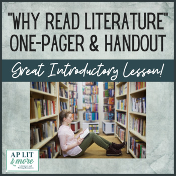 Why Read Literature One-Pager