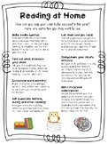Why Read at Home Parent Flyer