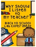 Why Should I Listen to my Teacher?  Back to School Management Experiment