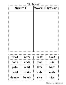 {L.2} {RF.2} {RF.3} Why So Long?  Interactive Long Vowel Pattern Sort