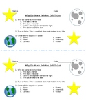 Why Stars Twinkle Exit Ticket