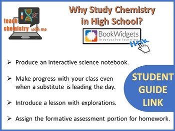 Why Study Chemistry in High School?  Student Guide Link