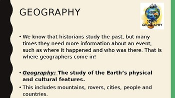 Why Study Geography?