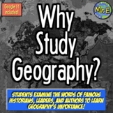 Why Study Geography? First Day of School Activity for Impo