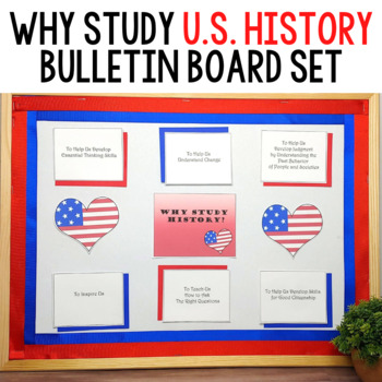 Why Study History Printable Bulletin Board Set: U.S. Edition