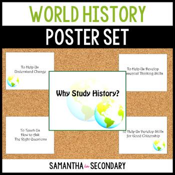Why Study History Bulletin Board Set: World Edition
