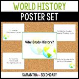 Why Study History Printable Bulletin Board Set: World Edition