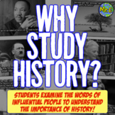Why Study History? First Day of School Activity for World