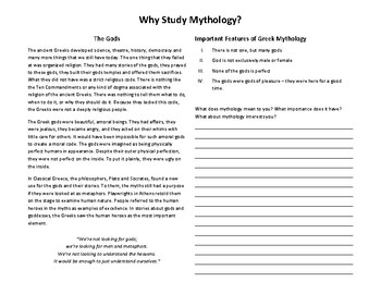 Why Study Mythology?
