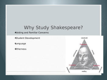 Why Study Shakespeare? power point