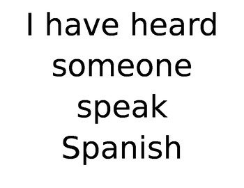 Why Study Spanish Activity
