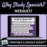 Why Study Spanish? Webquest (Google Drive & Printable)