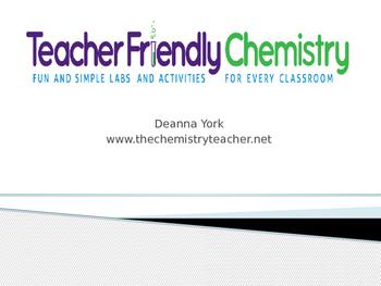 Why Teacher Friendly Chemistry?