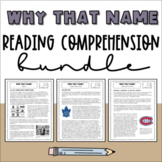 Why That Name?   Non-Fiction Reading Comprehension Activit