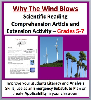Why The Wind Blows - Science Reading Article - Grades 5-7