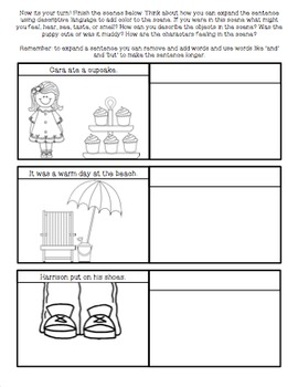 Why Use Descriptive Language? Comic Strip Note- Painting A Picture With Words