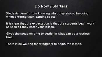 Why Use Starters