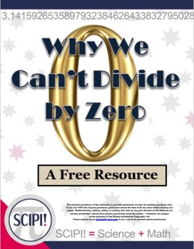 Why We Can't Divide by Zero - A FREE Math Resource