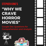 Why We Crave Horror Movies by Stephen King Analysis and Co