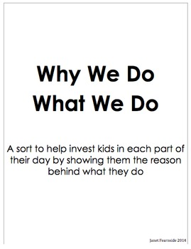 Why We Do What We Do Sort
