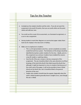 Why We Have Seasons:  Diagram Assessment with Rubric
