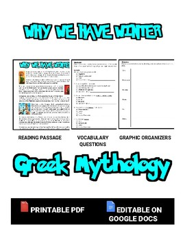 Why We Have Winter: Reading & Worksheet (Editable in Google Docs)