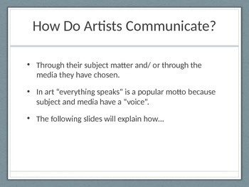 Why We Make Art